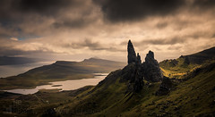The Old Man of Storr (GenerationX) Tags: sky panorama mountains weather clouds landscape scotland highlands isleofskye unitedkingdom scottish neil needle gb prints loch portree barr holm trotternish needlerock coirefaoin theoldmanofstorr thestorr lochleathan soundofraasay a855 bearreraigbay isleofraasay canon6d trndairnis tottrome roundfold lochscamadal