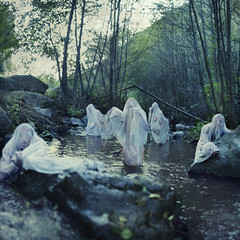 Rising. (David Talley) Tags: trees cold tree texture water rock creek forest river rising scary ghost hill sheets creepy towels sheet haunting hillside risen spook rushing 365project davidtalley brookeshaden