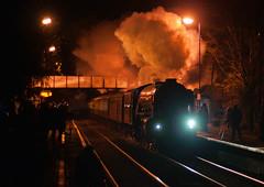 Night train (geoffspages) Tags: night geotagged railway steam tornado churchstretton geo:lat=5253731128937146 geo:lon=28036914547424203