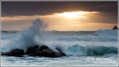 Sunset wave (Simon Bone Photography) Tags: sea sky cloud sun silhouette cornwall waves splash capecornwall stjust brisons priestscove cornishcoast cornishsunsets wwwthehidawaycouk canoneos7d canonef24105mmlf4