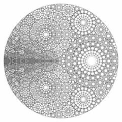 Recursive Apollonian Gasket (fdecomite) Tags: circle geometry packing math gasket povray tangent recursivity imagej tangency apollonian