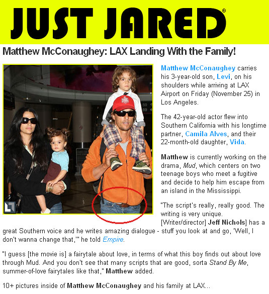MATTHEW MCCONAUGHEY Just Jared 1