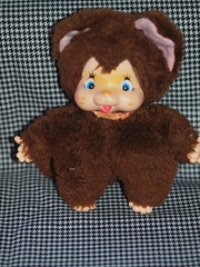 I,m brown ,so what!!!!!!!!!!!!!!!!! (Never-to-Old-For-Dolls -And-Toys) Tags: cute fun monkey big dolls small clone monchhichi apen