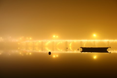 Brouillard en bord de saone/ Fog around Saone river. (clicheforu) Tags: city longexposure bridge autumn light shadow france reflection tourism water beautiful silhouette fog night canon river landscape boat amazing flickr shot superb riviere 71 reflet 01 shutter pont 1855mm capture nuit saintlaurent brouillard macon lightpainter fleuve saone longueexposition saoneetloire flickraward refleto clicheforu