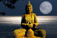 golden moment (AlicePopkorn) Tags: light moon lake sparkles night silver golden buddha meditation awareness dharma consciousness contemplation alicepopkorn