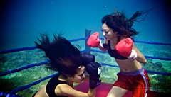 UW-ChineseBoxing 2 (steadichris) Tags: underwater models chinese scuba lingerie cebu boxing breathhold