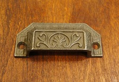 Cabinet Pull (WF-1319) (The Door Store) Tags: vintage salvage antique doorstore thedoorstore toronto ontario canada used original reclaimed reproduction hardware furniture pull binpull cabinet drawer handle brass unique period era classical traditional aged historic old oldfashioned worn secondhand rustic door store on