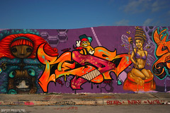 Reds on the Few&Far Queen Bees Wall (missREDS_AM7) Tags: red graffiti paint miami spraypaint piece reds ff vcr dmt artbasel am7 ironlak miamigraffiti fewandfar missreds allmightyseven