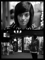 Alycia (Charlie Hoffman) Tags: portrait blackandwhite shop image michigan environmental double story skiresort snowboard burton alycia snowboards neff cannosburg
