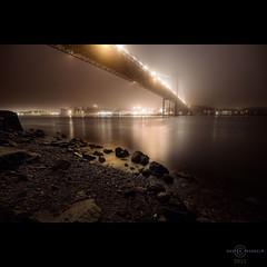 Dark Mist (martin fredholm) Tags: longexposure bridge november autumn mist night gteborg lyrics sweden shoreline hdr quadtone 2011 ghostbrigade bestcapturesaoi elitegalleryaoi masterclasselite