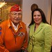 Navajo Code Talker Joe Vandever Sr., and Debbie McBride at a luncheon and book signing hosted by the Navajo Nation Washington Office. Dec. 7, 2011. Photo by Jared King / NNWO.