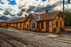 217-13250217 (wbrook13) Tags: railroad autumn newmexico station train cloudy depot chama 1899 cumbrestoltecrailroad