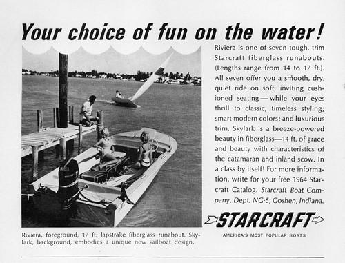 riviera ad starcraft runabout 1964 skylark fibreglass