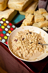 Stirabout (TerryJohnston) Tags: food mi dof bokeh michigan bowl oatmeal grandrapids grap foodexchange amazingmich canoneos5dmarkii 5dmarkii grapswappers foodbarterandexchange
