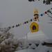 Snow, Prayer Flags, and Stupa