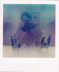 I shot myself in Kempinski (krypn) Tags: camera polaroid sx70 photo dubai instant ism kempinski ishotmyself palmjumeriah
