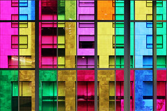life in technicolor (*Lemur*) Tags: city windows architecture colours montreal palaisdescongres