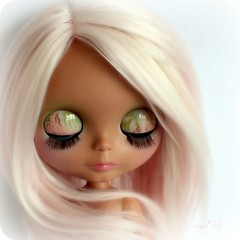 (Angel~Lily) Tags: new pink sky ice alpaca girl doll heather tan pale blythe coming custom soon hairs no29 angel~lily