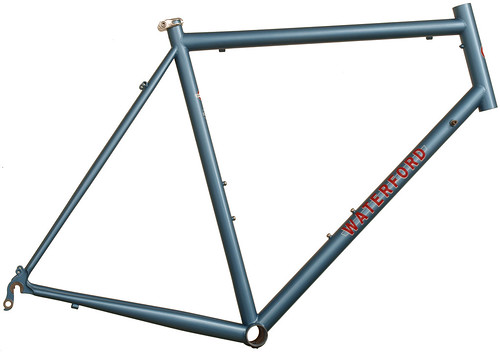 <p>14-Series Vision rando frame painted English Light Blue Metallic with Waterford Block Decals - Red with White Accent - 62436.</p>