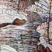 Icing Up - Bog River, oil on canvas. Artist: Nancy Brossard