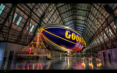 "The Spirit of Christmas meets ""The Spirit of Goodyear"" (Theaterwiz) Tags: blimp gondola goodyear toysfortots goodyearblimp usmarines photomatix canon1022efs spiritofgoodyear airdock canon7d theaterwiz theaterwizphotography"