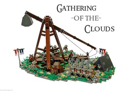 Gathering of the Clouds (Blake's Baericks) Tags: city camp mountain lake men castle classic town war lego dwarf hill contest battle scene lotr knight ccc blake baer trebuchet