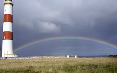 Rainbow over Tarbet Ness Lighthouse, Sutherland (AssyntNature) Tags: lighthouse sutherland