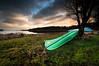Green & blue (- David Olsson -) Tags: blue lake tree green water grass clouds landscape boat nikon cloudy sweden sigma canoe 1020mm 1020 dri vänern värmland d5000 segerstad torsviken davidolsson 2exposuremanualblend ginordicdec