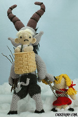Krampus back (Croshame) Tags: christmas winter black crochet peter krampus schmutzli croshame