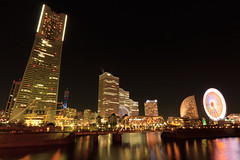 A night at Yokohama (Takashi(aes256)) Tags: night niceshot ferriswheel yokohama kanagawa   landmarktower    canoneos7d sigma816mmf4556dchsm