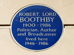 Photo of Robert Boothby blue plaque