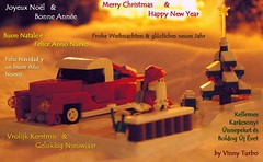 Merry Christmas (Vinny Turbo) Tags: santa christmas up lego card presents merry claus pick greeting 5wide