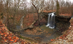 The Whole Thing (Jason Haley) Tags: winter ohio panorama leaves canon waterfall hiking pano running falls charleston trail 5d preserve 28135mm mkii