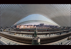 Calatrava revisited (Explore) (Bert Kaufmann) Tags: panorama station architecture canon concrete design belgium belgique gare belgi rail explore trainstation calatrava transparency rails glas luik santiagocalatrava architectuur beton lige wallonie lttich staal explored canoneos400d railnetwork guillemains ligeguillemains ligeguillemainsstation