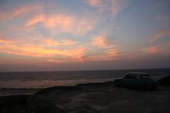 Silent Sunset Sitting On A Bunker (Peter Keijenberg) Tags: skyline para transport citroen ds oldtimer frankrijk autos thema soulacsurmer