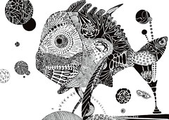 Fish (vsa_mif) Tags: bw fish illustration doodle zentangle