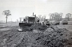 1960's Road Building (colinfpickett) Tags: old building 1930s airport construction memories streetscene nostalgia nostalgic british 1960s roads coaches airliner delivering