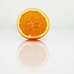 Only Orange (Sebastian.Schneider) Tags: food orange detail reflection kitchen closeup fruit studio essen object details indoor whitebackground highkey kche frucht spiegelung lightbox tabletop nahaufnahme kunstlicht objekt apfelsine artificallight lichtzelt