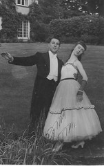 High Society (cheryldecarteret) Tags: england net cornwall dressingup 1950s tails foundphotograph highclass gonewiththewind eveningdress fingerlessgloves puttingontheritz fulldresssuit