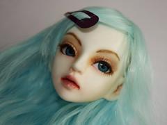 Eri Faceup (Onionprince) Tags: ball dark painting li doll redhead bjd dollfie abjd puppe jointed balljointeddoll faceup resinsoul custoom