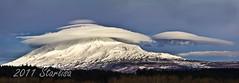 My New Year's Present :-) (Starlisa) Tags: weather clouds volcano washington lenticular mountadams weatherchange starlisa starlisablackphotography mtadamslenticularpano2 darlisablack