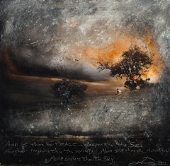 DEEPER FARTHER STILL (Kevissimo) Tags: africa tree clouds landscape photo solitude peace mixedmedia text gift oil uganda kevissimo oilgraph kevinrolly hoima
