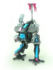 Azur Mech (aabbee 150) Tags: pink friends light dark purple lego 150 medium azur mech unmanned drone foitsop aabbee aabbee150