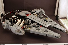 Falcon Work in Progress (psiaki) Tags: star lego millennium falcon wars moc