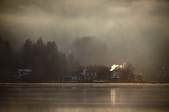 Lake 6of12 (sparth) Tags: seattle trees winter chimney house lake landscape is washington warm december smoke lac 300mm redmond usm washingtonstate marymoor lakesammamish 2011 marymoorpark 20x f28l ef300mm 5dmkii ef300mmf28lisusm20x