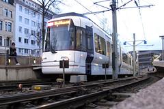 moBiel 5003 [Bielefeld tram] (Howard_Pulling) Tags: camera winter canon germany deutschland tram german nrw 5003 rathaus trams tramway vamos bielefeld strassenbahn mobiel kiepe g12 stadtbahn linie4 newtram heiterblick hpulling howardpulling