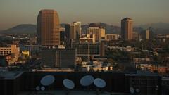 Encanto Dawn in Phoenix, AZ (8:04am) (karlsbad) Tags: phoenix buildings dawn circles dishes encanto satellitedishes phoenixaz karlsbad karlschultz