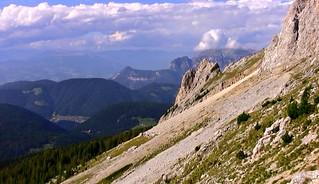 SÜDTIROL, Dolomiten , Abstieg nach Obereggen  - 426/909