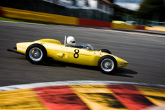 Ferrari 156 'Sharknose' (VJ Photography) Tags: cars car yellow racecar vintage photography jurrie ancient belgium jan no 8 automotive ferrari racing historic number replica event be driver oldtimer hours motor six nr oldtimers spa pilot motorracing luik numero 156 pilote francorchamps spafrancorchamps 2011 nummer vjimages vanhalle sharknose rijder biekens
