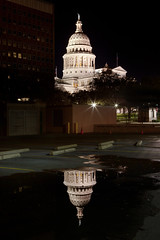 Texas Capitol Reflection 2 (Michael Tuuk) Tags: reflection water austin puddle parkinglot texas tx capitol 2012